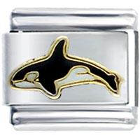Swimming Killer Whale Spring Fashion Jewelry Italian Charm
