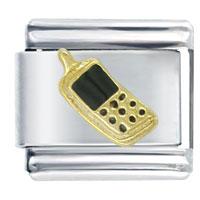 Cell Phone Black Italian Charms