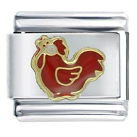 Red Rooster January Jewelry Italian Charm