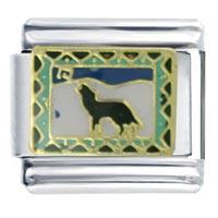 Golden Italian Charm Bracelet Southwestern Coyote Dogs
