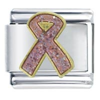 Breast Cancer Awareness Pink Ribbon Italian Charm Italian Charms Bracelet Link