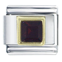 January Birthstone Square Jewelry Italian Charm