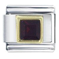 January Birthstone Square Jewelry Italian Charm