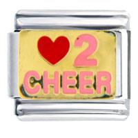 Golden Italian Charm Bracelet Love 2 Cheer