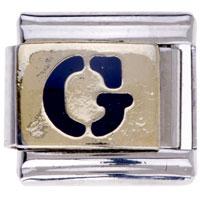 Letter G Golden Italian Charm Bracelets Laser Italian Charm
