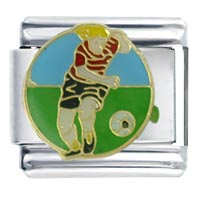 Girl Soccer Italian Charms