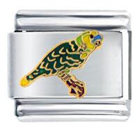Yellow Parrot Autumn Fashion Jewelry Italian Charm