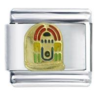 Golden Italian Charm Bracelet Jukebox Gift