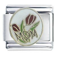Mom Roses Celebration Italian Charms
