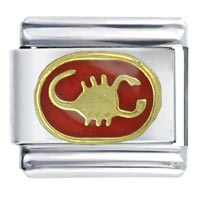 Scorpio Red Birthstones Jewelry Italian Charm