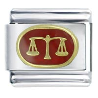 Libra Red Birthstones Jewelry Italian Charm
