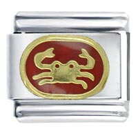 Cancer Red Bith Date Italian Charms