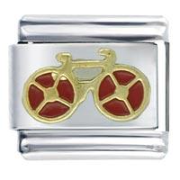 Red Bicycle Italian Charm Bracelet