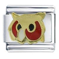 Owl Animal Italian Charms Italian Charms Bracelet Link