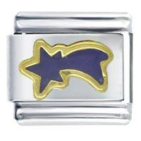 Purple Shooting Star February Jewelry Italian Charm