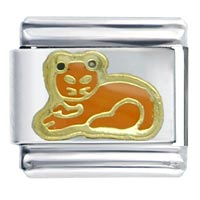 Cat Orange Italian Charms