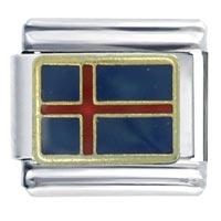 Flag Iceland Travel   Italian Charm Bracelet