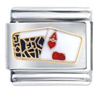 Poker Cards Italian Charms Bracelet Link