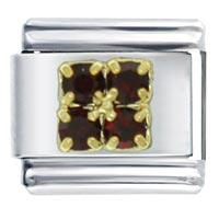 January Birthstone Studded Jewelry Italian Charm