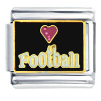 Love Football Gift Italian Charm