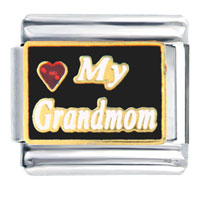 Love Grandmom Italian Charms