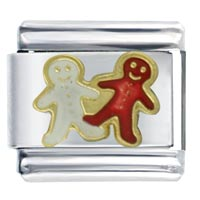 Gingerbread Men Italian Charms