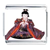 Italian Charms - japanese woman geisha doll fictional characters italian charms Image.