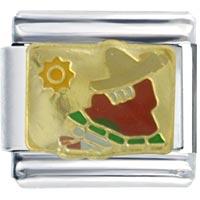 Golden Italian Charm Bracelet Sunny Siesta
