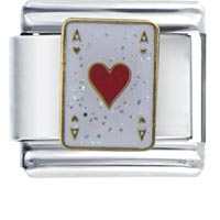 Ace Hearts Love Italian Charm Bracelet