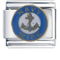 Navy Wife Italian Charms