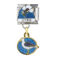 Utah State Italian Charm Bracelet Bracelet Link Dangle Italian Charm
