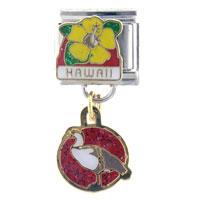 Hawaii Dangle Travel Flags Italian Charm Bracelet Dangle Italian Charm