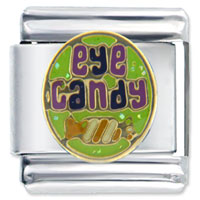 Eye Halloween Candy Italian Charms Bracelet Link Christmas Gift