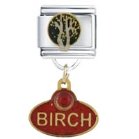 Birch Christmas Tree Italian Charms Bracelet Link
