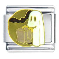 Halloween Ghost Italian Charms Bracelet Link