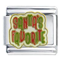 Santa Claus Favorite Christmas Italian Charms Bracelet Link