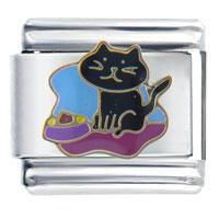 Dinner For Kitty Animal Italian Charms Bracelet Link