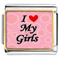 I Heart My Girls Italian Charm Bracelet