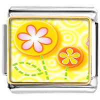 Italian Charms - fun flowers italian charms bracelet link photo italian charm Image.