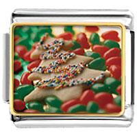 Italian Charms - tree cookie and halloween candy food italian charms bracelet link christmas gift photo italian charm Image.