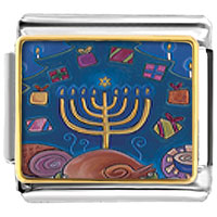 Items from KS - hanukkah eight gifts italian charms bracelet link photo italian charm Image.