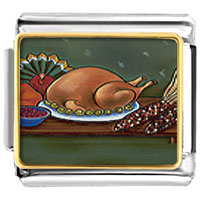 Italian Charms - thanksgiving food italian charms bracelet link photo italian charm Image.