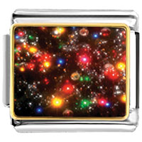 Italian Charms - christmas lights italian charms bracelet link photo italian charm Image.