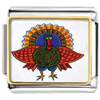 Italian Charms - folk art turkey italian charms bracelet link photo italian charm Image.