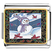 Italian Charms - gifts festive christmas gifts snowman italian charms bracelet link photo italian charm Image.
