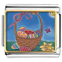 Items from KS - easter basket italian charms bracelet link photo italian charm Image.