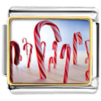 Italian Charms - halloween candy cane land food italian charms bracelet link christmas gift photo italian charm Image.
