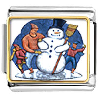 Italian Charms - gifts building a christmas gifts snowman italian charms bracelet link photo italian charm Image.