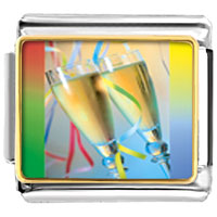 Italian Charms - champagne party italian charms bracelet link photo italian charm Image.