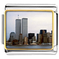 New York Twin Towers Italian Charm Bracelet Bracelet Link